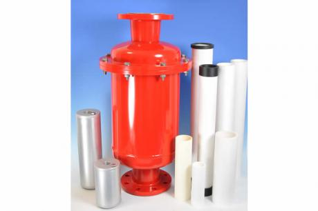 Intake and exhaust air filter for air and gas filtration