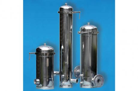 Candle filter housings made of stainless stell for liquid filtration