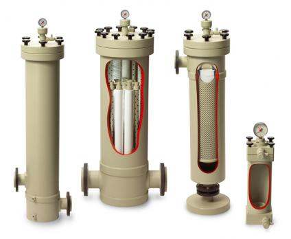 SF Candle filter housings made of place for liquid filtration