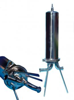 Membrane filter housings made of stainless for liquid filtration