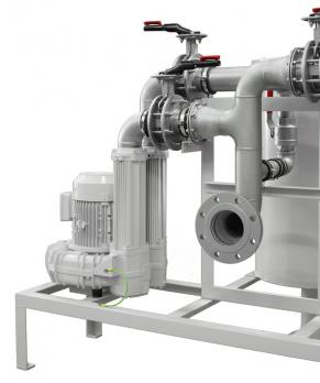 Contec® Oil Mist Separator/Oil Mist Eliminator Type 1.500/980, Flow rate 180 Nm³/h with side blower