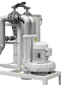 Contec® Oil Mist Separator/Oil Mist Eliminator Type 550/980, Flow rate 110 Nm³/h with side blower